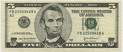 US $5 Note 2000 (Front)