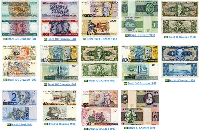 Brazilean Reals (1950s-2000s)