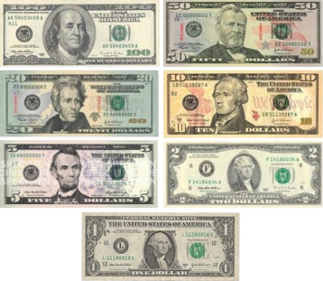 Current denominations of U.S. currency