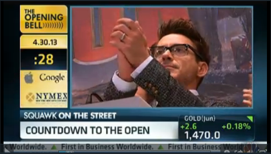 _Iron_Man__Downey_Rings_NYSE_Opening_Bell 2